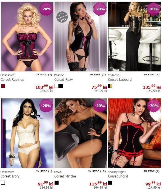 Vedeti toate corsetele sexy la reducere