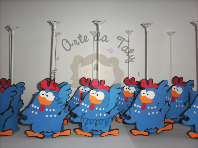 centro-de-mesa-aniversario-galinha-pintadinha