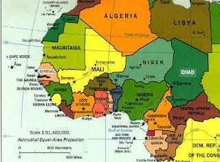 peta afrika barat