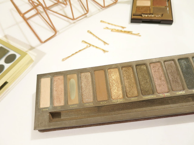 Warm Toned Eyeshadows Urban Decay naked Palette