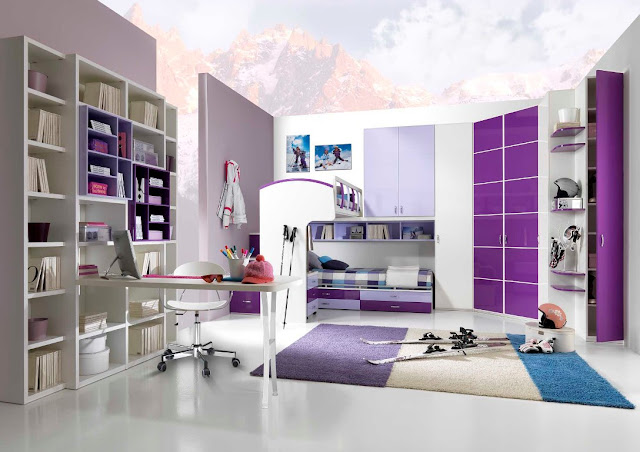 Id e d co chambre ado fille moderne for Decoration chambre moderne