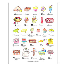 Sweets Alphabet Art Print