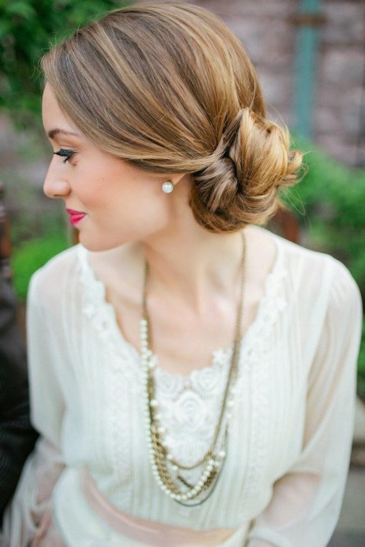 Más de 1000 ideas sobre Moños Bajos De Boda en Pinterest Cortes  - Peinados De Novia Moños Bajos
