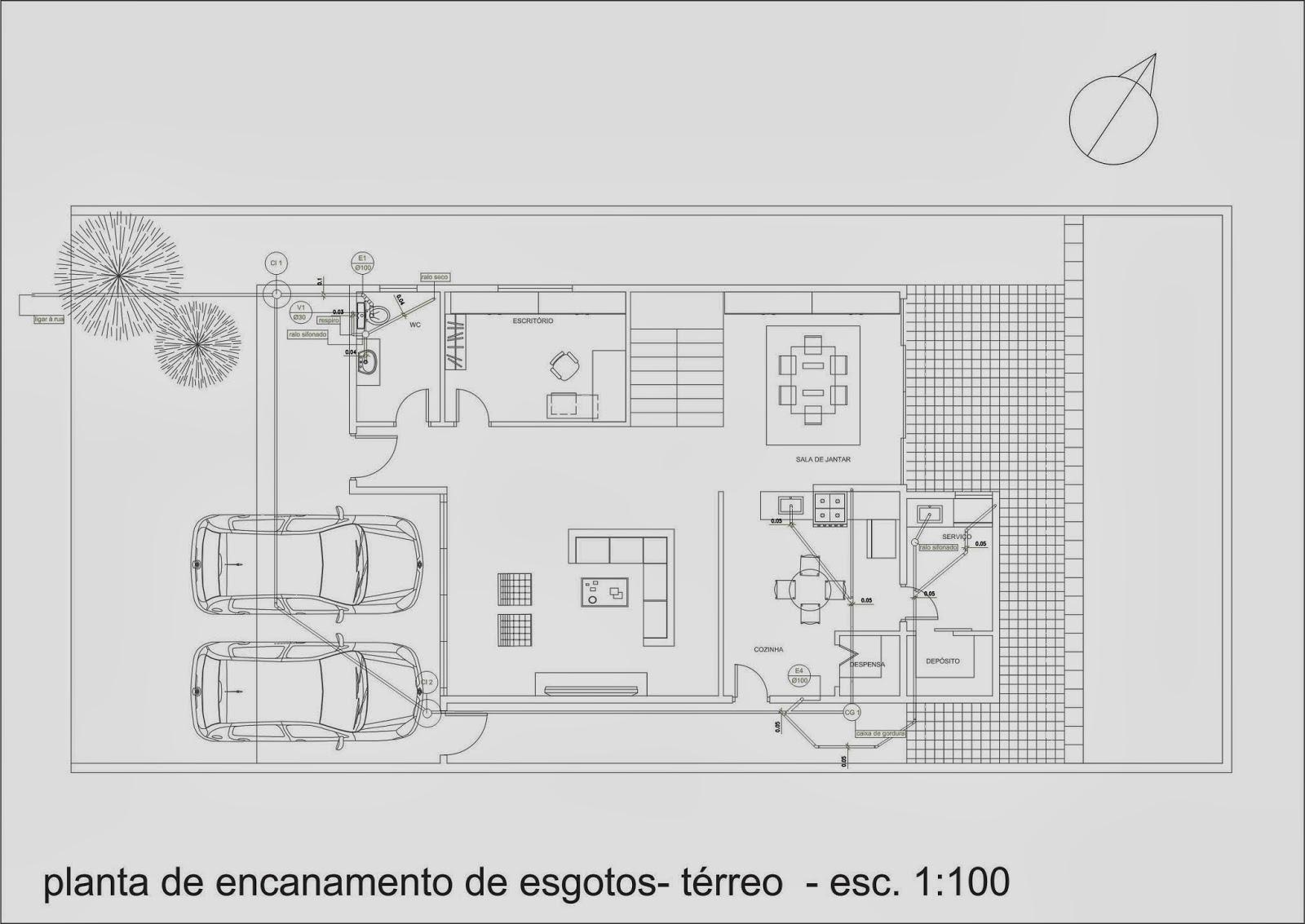 Por último foi elaborado o plano de encanamentos de esgoto da  #696B60 1600 1133