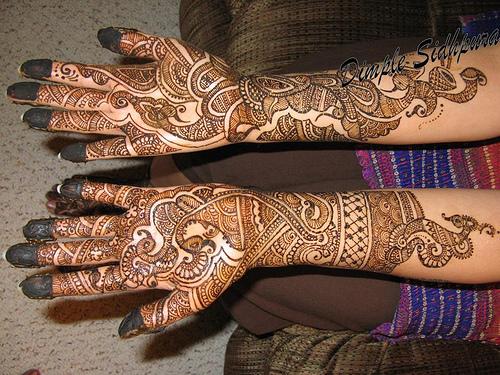 Mehndi Hairstyles S : All types of mehndi styles new designs