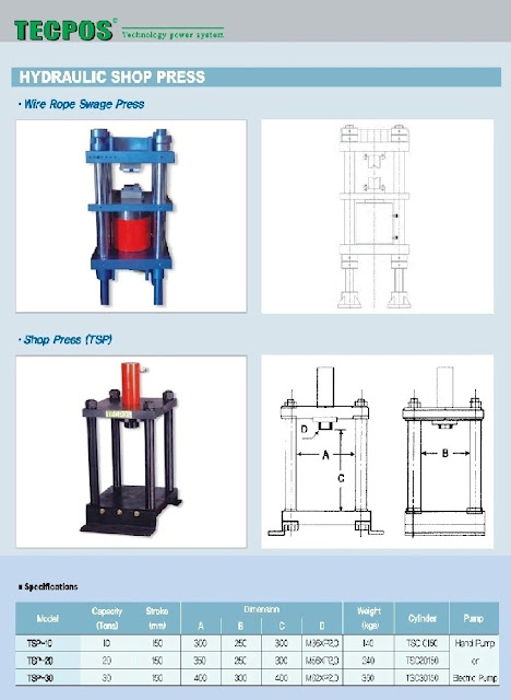 Hydraulic Accessories, Wire Rope Swage Press
