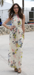 Louise Roe Floral Maxi Ted Baker Attavia Celebrity