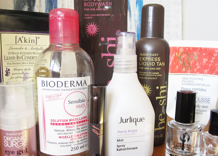 August Empties / Products I've Used Up