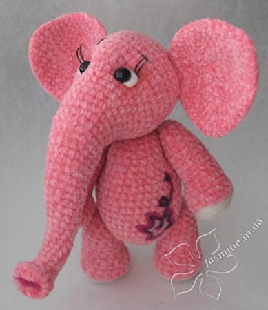 по вязанию розового слона