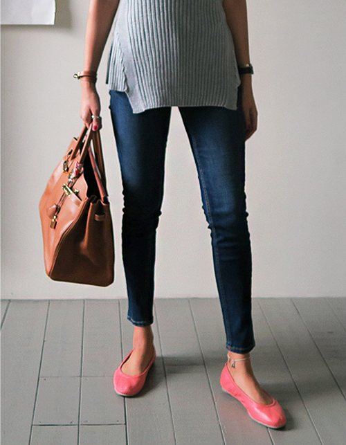 Faded Dark Wash Skinny Jeans