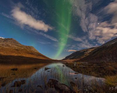 Auroras sobre Kvaløya, Noruega, 30 de Septiembre 2012