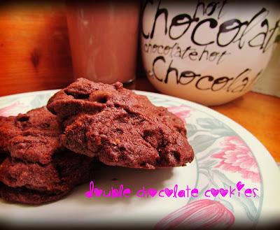 double chocolate cookies, Nigella Lawson, recipe, bitter coco, delicious tasty, coffee, cook, chocolate milk