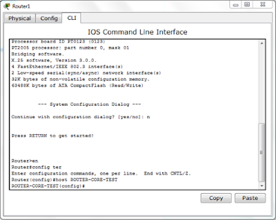 CLI in router 1