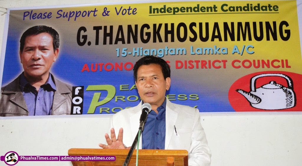 G Thangkhosuanmung in Campaign bawl