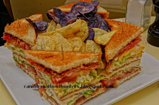 Club Sandwich at Les Deux Magot's, Paris, France