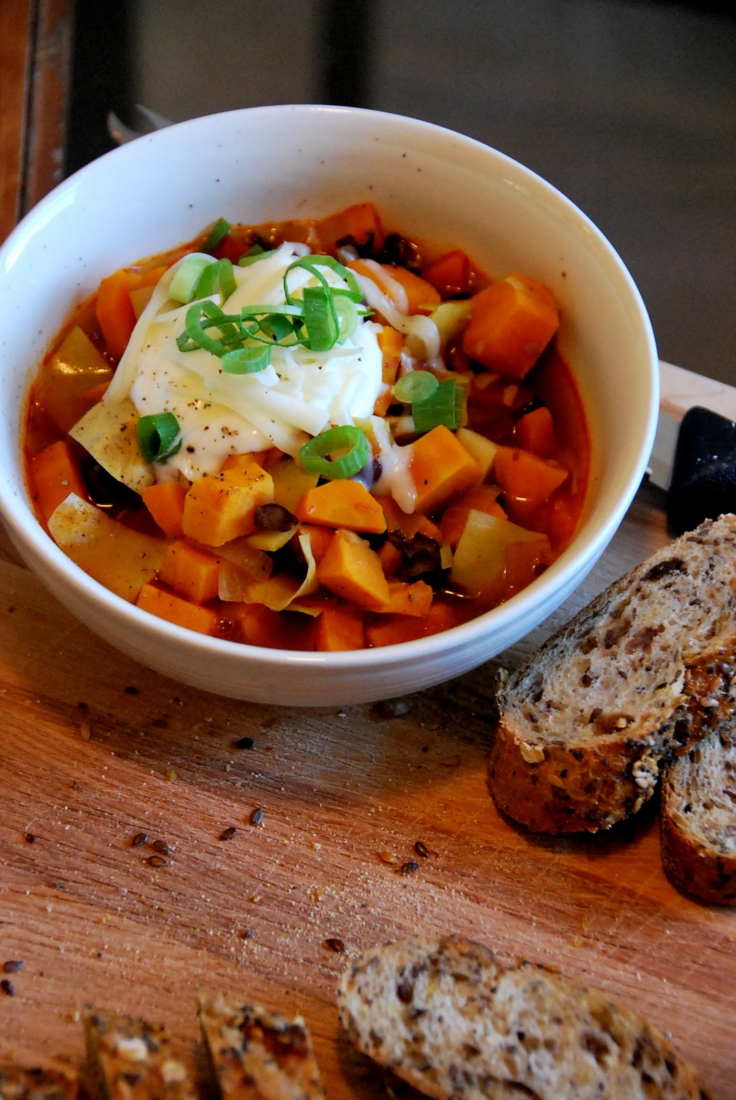 black bean chili with fall root vegetables 1 cup dried black beans you ...