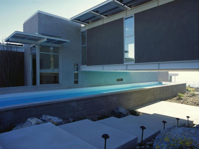 Photo of pool built into the house