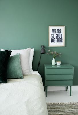 Grønt soveværelse