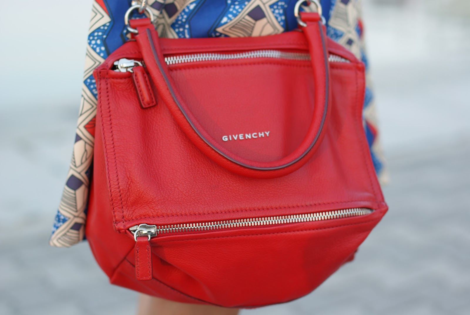 small red Givenchy Pandora bag on Fashion and Cookies fashion blog, fashion blogger style