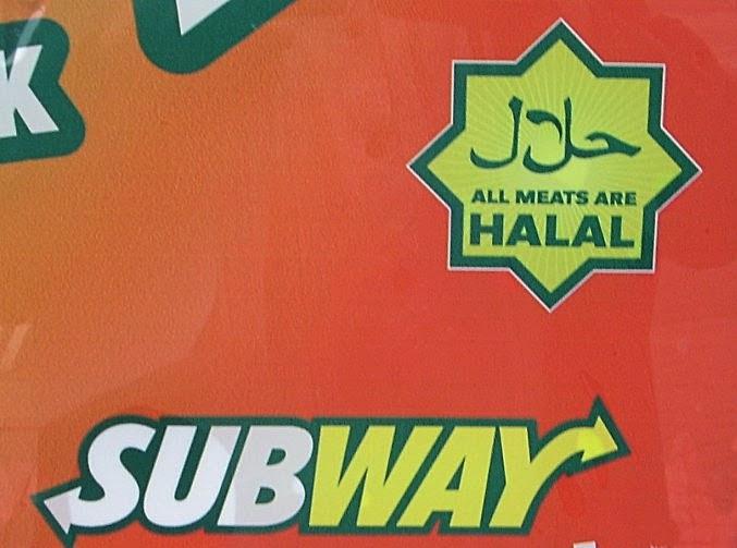 Subway halal sign