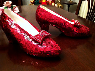 Replica 'Wizard of Oz' Ruby Slippers