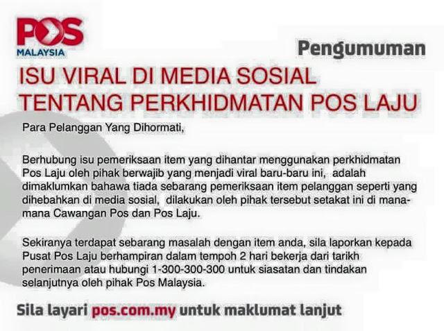 Pos Malaysia - Isu Viral Di Media Sosial Tentang Perkhidmatan Pos Laju