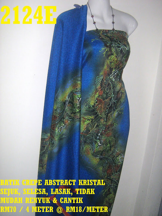 2124E: BATIK CREPE ABSTRACT KRISTAL,  4 METER