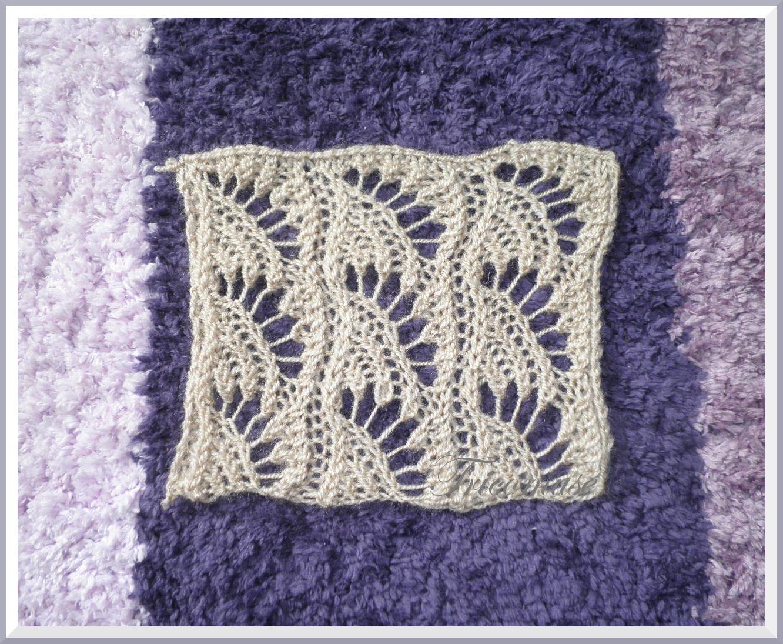 Tricot et compagnie un joli point coquillage ajour - Modele de point au tricot ...