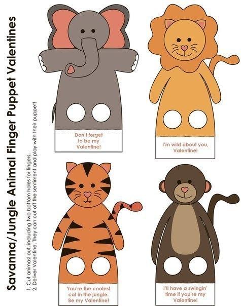 Про детей...и не только: Пальчиковые игрушки из бумаги.