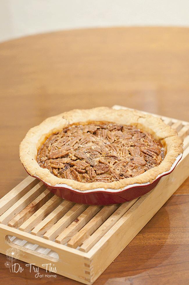 pecan pie in plate