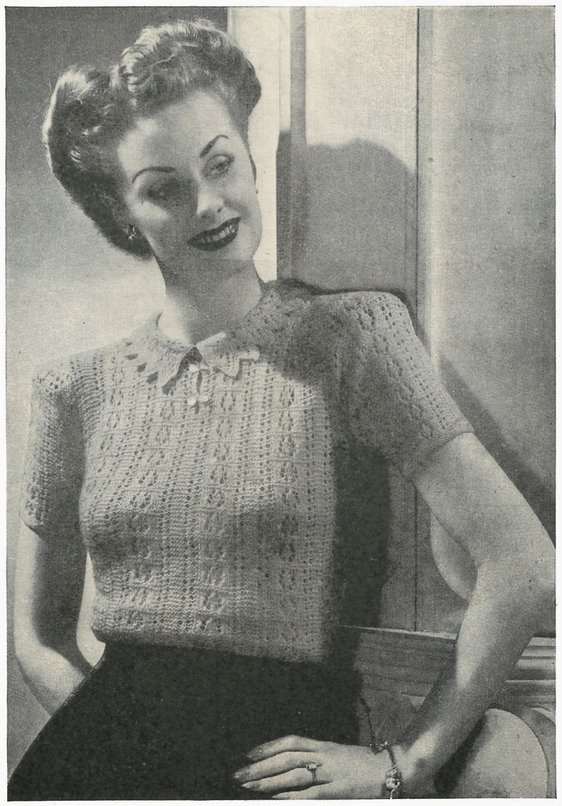 1940s lace jersey