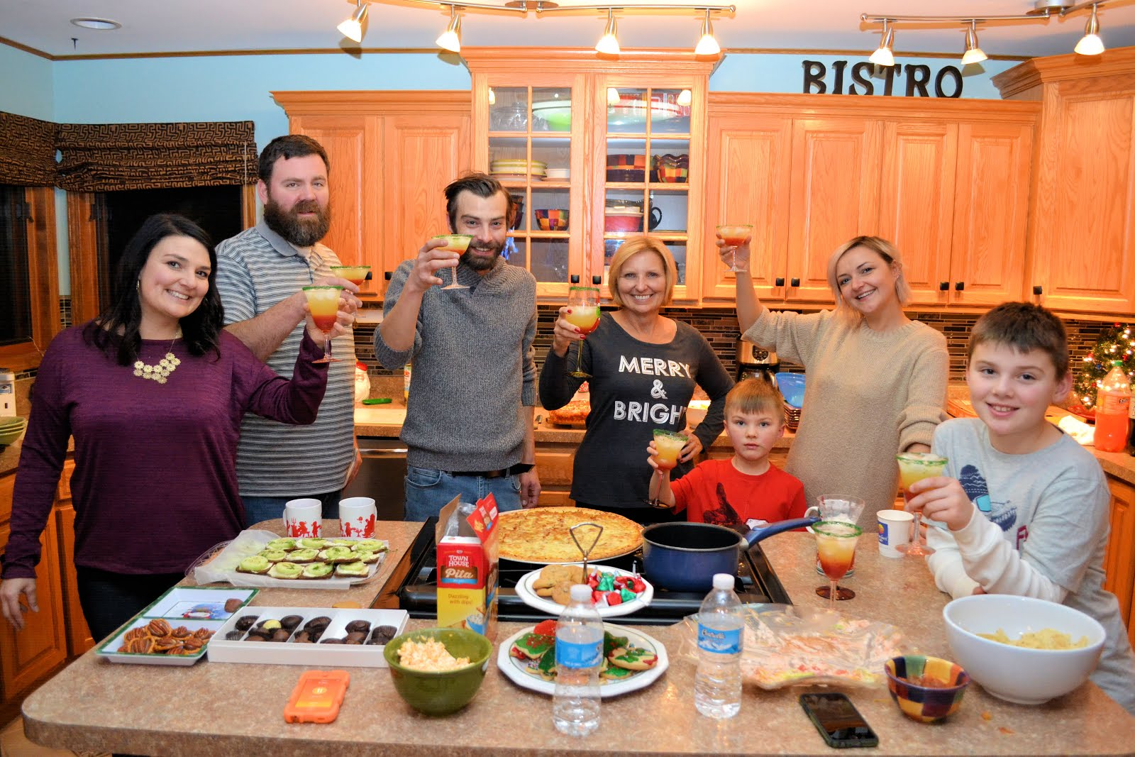 Christmas Eve Toast with Family