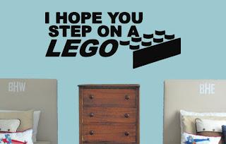 I hope you step on a Lego wall sticker