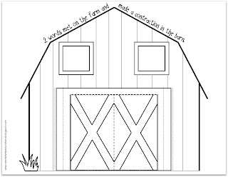 barn outline printable - photo #15