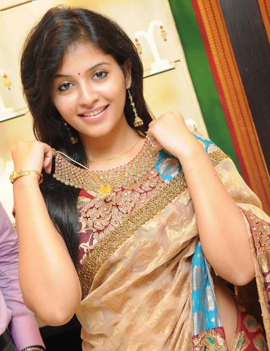 Anjali in Saree Cute Photos wallpapers