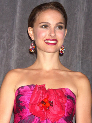 Natalie Portman Sterling Dangle Earrings