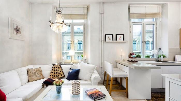 Garsonier de 32 m cu pat suspendat jurnal de design interior - Decoration petit appartement idee ...