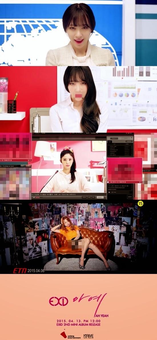 EXID Ah Yeah MV Teaser EXID Ah Yeah teaser EXID Ah Yeah teaser image hani solji junghwa hyelin exid un&down Girls Generation Dal Shabet K-pop k pop enjoy korea hui