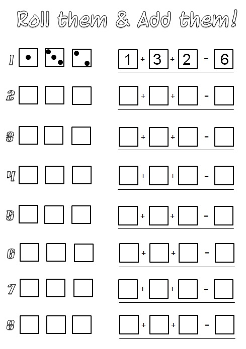 This is a graphic of Punchy Printable Math Dice Games