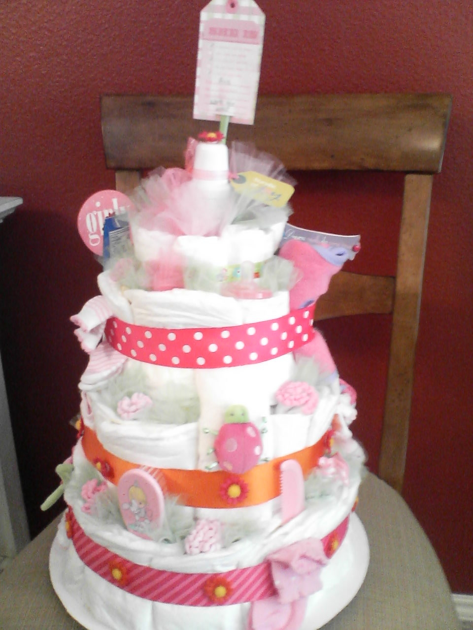 Pamper Party Cake Images : Party with a K...THE BLOG: How to Make a Diaper Cake
