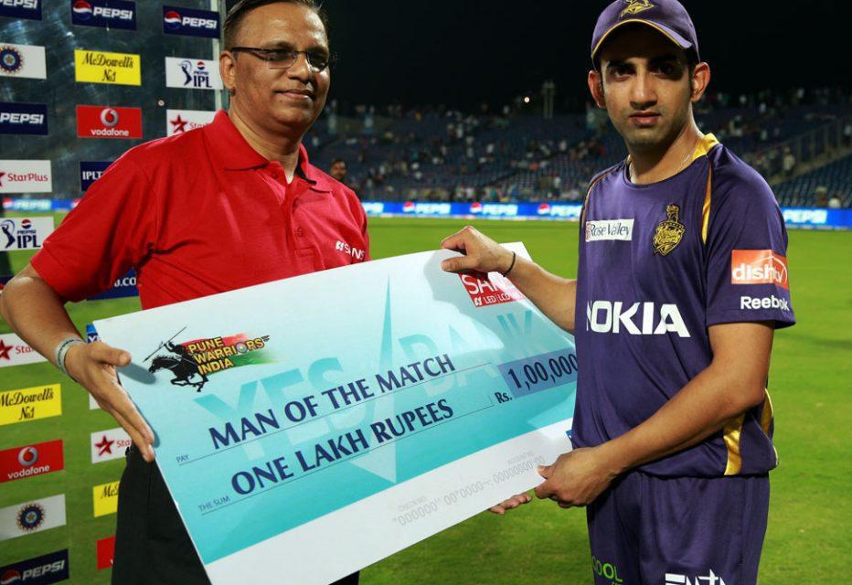 Gautam-Gambhir-Man-of-the-Match-PWI-vs-KKR-IPL-2013