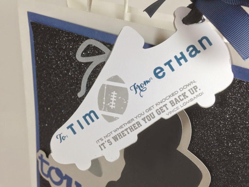 Cricut Total Sports Touchdown Gift Bag tag