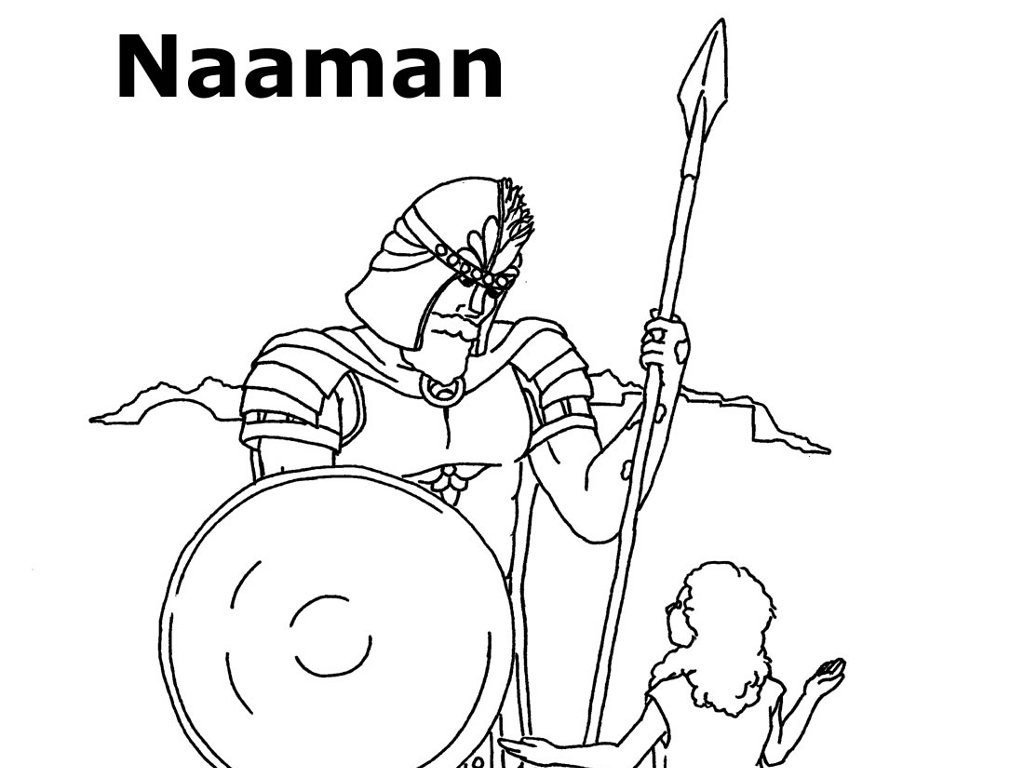 naaman bible coloring pages - photo #21