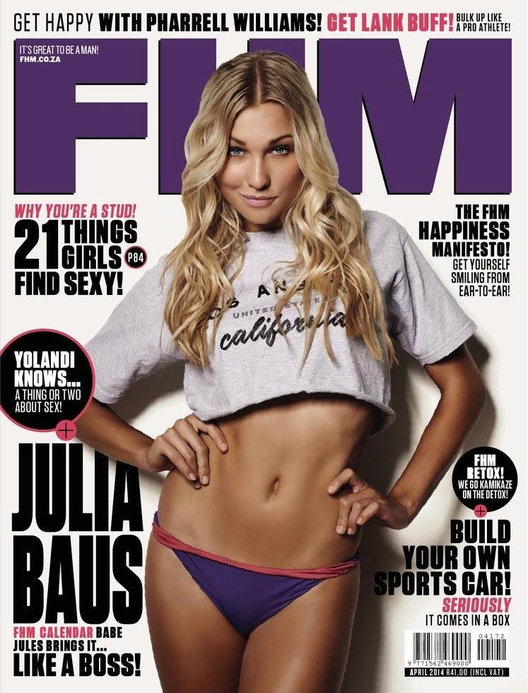 Julia Baus - FHM Magazine South Africa, April 2014