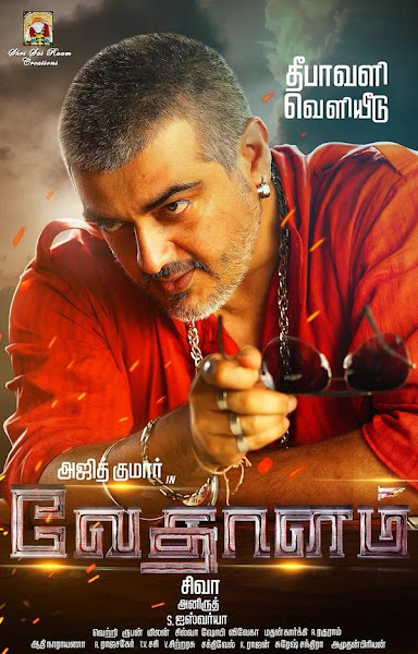 Poster of Vedhalam 2015 720p WEB-DL Tamil Full Movie