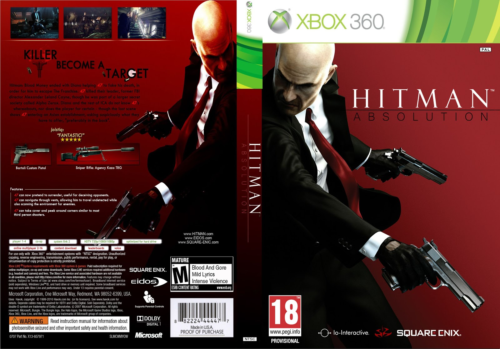 hard gamess hitman absolution xbox 360. Black Bedroom Furniture Sets. Home Design Ideas