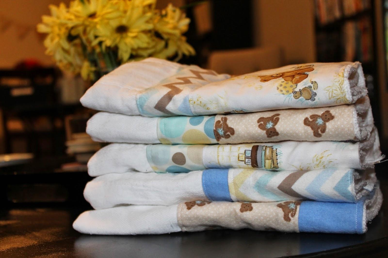 burp cloths from diapers, teddy bear burp cloths, sew burp cloths