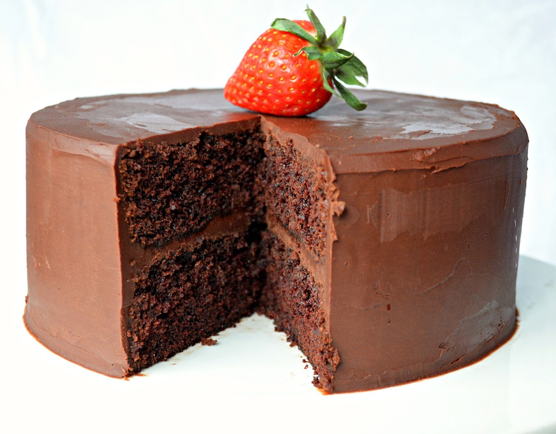 Moist Chocolate Cake With Ganache Frosting - Serena Bakes Simply ...