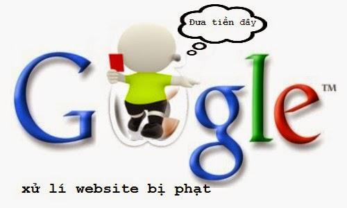 xử lí website bị phạt