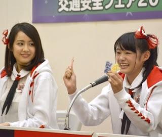 NGT48西村菜那子・長谷川玲奈が交通安全フェア@イオンモール新潟南(亀ジャス)